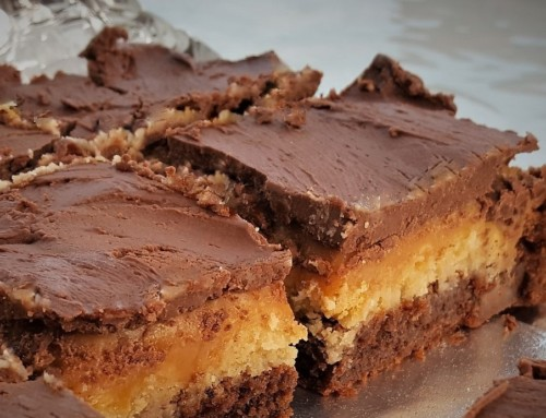 Twix Truffle Brownies